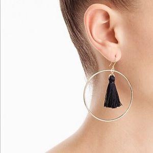 J. Crew fringe hoop earring NWT